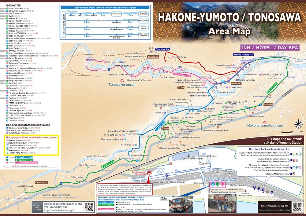 Hakone Yumoto Map